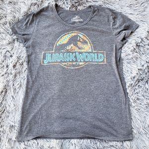 Gray Jurassic World Short Sleeve Top